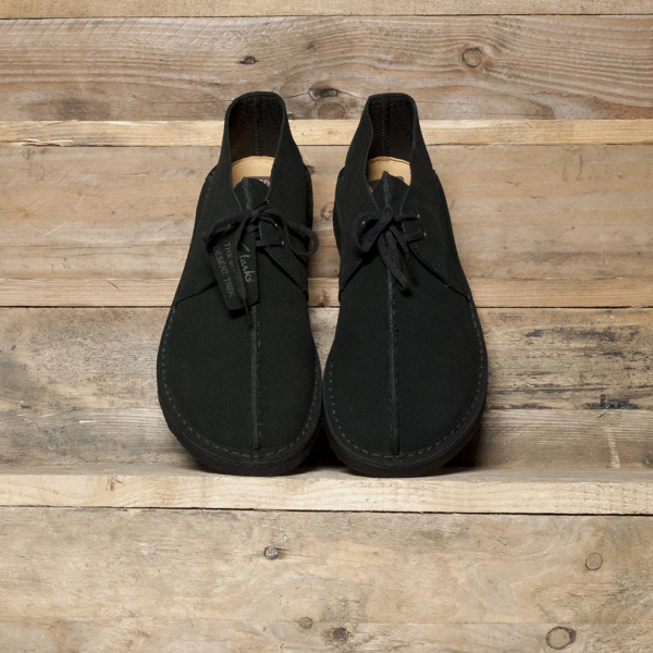 Clarks Originals Desert Trek Suede Black The R Store
