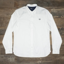 Fred Perry M8272 Classic Twill L/s Shirt White