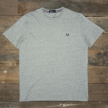 Fred Perry M6334 Crew Neck T Shirt Vintage Steel Marl