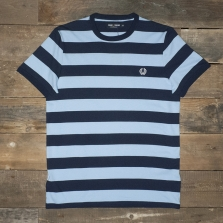 Fred Perry M7254 Striped Ringer T Shirt Carbon Blue