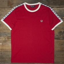 Fred Perry M6347 Taped Ringer T Shirt Blood