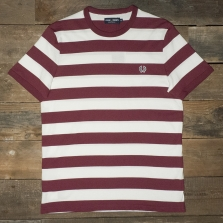 Fred Perry M7254 Striped Ringer T Shirt Snow White