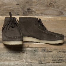 Clarks Originals Wallabee Boot Suede Dark Brown