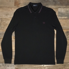 Fred Perry M3636 Ls Twin Tipped Shirt 102 Black