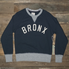Champion Todd Snyder Ts Bronx Crewneck Sweatshirt Navy Grey Heather