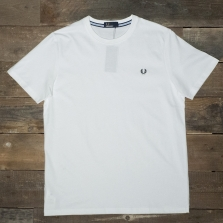Fred Perry M6334 Crew Neck T Shirt White