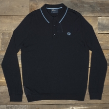 Fred Perry K9521 Fine Merino Knitted Shirt Navy