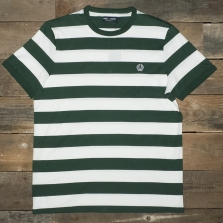 Fred Perry M7254 Striped Ringer T Shirt 426 Ivy Cream
