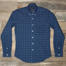 HUMAN SCALES Michael Double Face Shirt Indigo