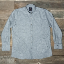HUMAN SCALES Rikard Over Shirt Grey Stripe