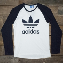 adidas Originals Ay7804 Trefoil Ls Tee White Ink