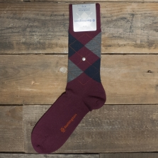 BURLINGTON Edinburgh 21182 Socks 8104 Burgundy