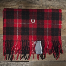 Fred Perry C9117 Cunningham Tartan Scarf 943 Red