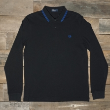 Fred Perry M3636 Ls Twin Tipped Shirt 073 Black Regal