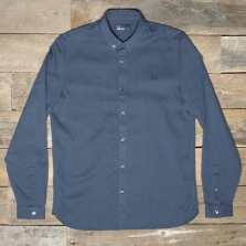 Fred Perry M1514 Waffle Textured Shirt D58 Deep Night