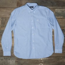Fred Perry M9546 Classic Oxford Shirt 146 Light Smoke