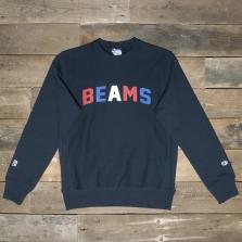 Champion Beams 210634 Beams Collegiate Logo Sweatshirt 2192 Nny Navy
