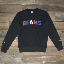 Champion Beams 210634 Beams Collegiate Logo Sweatshirt 2175 Nbk Black