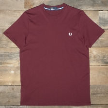 Fred Perry M6334 Crew Neck T Shirt D60 Rosewood