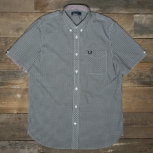 Fred Perry M6378 Classic Gingham Ss Shirt 102 Black