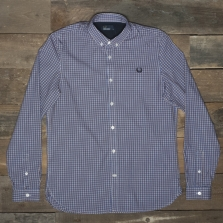 Fred Perry M9527 Three Colour Basketweave Shirt D60 Rosewood