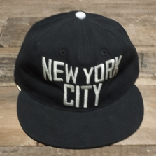 EBBETS FIELD FLANNELS New York City Lennon 6 Panel Strap Back Cap Black