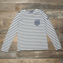 ST. JAMES Balade Lsf 4836 Ls T Shirt Jy Naturel/encre