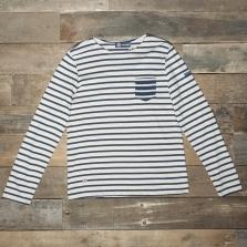 ST. JAMES Balade Lsf 4836 Ls T Shirt Jy Naturel/encre