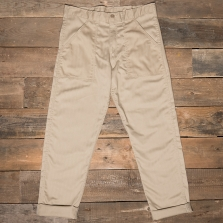 Stan Ray Slim Fit 4 Pocket Fatigue Pant Khaki Herringbone Twill