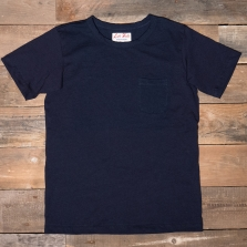 LEFTFIELD NYC Indigo Dyed Pocket T Shirt Indigo