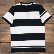 Fred Perry M2529 Bold Stripe T-shirt 608 Navy