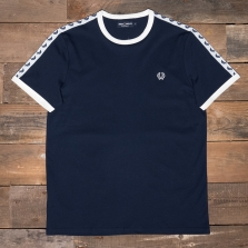 Fred Perry M6347 Taped Ringer T-shirt 266 Carbon Blue