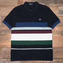 Fred Perry M2522 Multi Stripe Pique Shirt 608 Navy