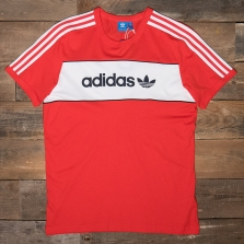 adidas Originals Bk7783 Block Tee Red