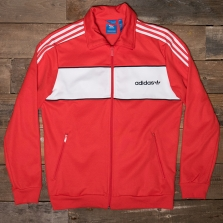 adidas Originals Bk7840 Block Track Top Red