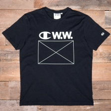 CHAMPION WOOD WOOD 211085 Crewneck T-shirt Kk001 Black