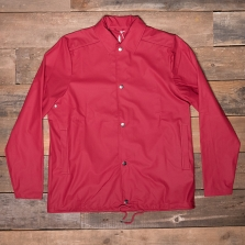 Rains Waterproof Coach Jacket Scarlet