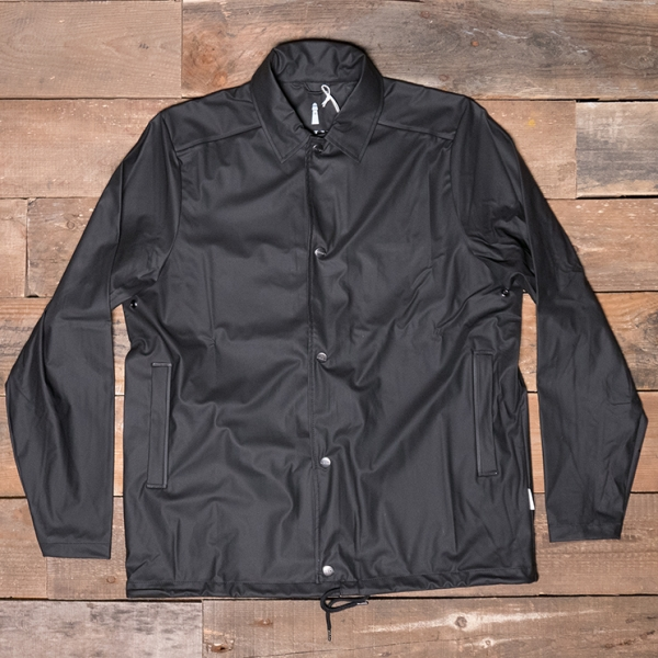 Rains Waterproof Coach Jacket Black The R Store