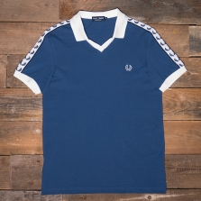 Fred Perry M2542 Taped Pique Shirt 641 Pacific