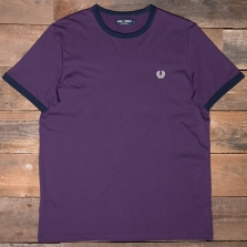 Fred Perry M1530 Ringer T Shirt 477 Blackcurrant