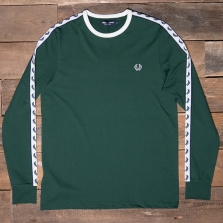 Fred Perry M2604 Ls Taped Ringer T Shirt 426 Ivy