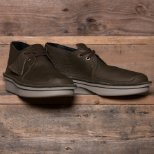 Clarks Originals Oswyn Mid Leather Peat