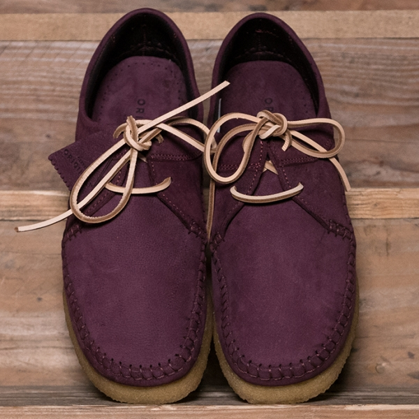Clarks Originals Weaver Nubuck Made In Italy Purple Grape