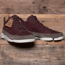 Clarks Originals Trigenic Flex Nubuck Burgundy