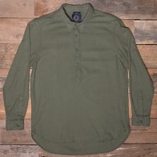 HUMAN SCALES Sten Pop Over Shirt Green