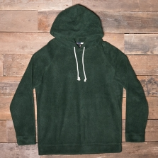 HUMAN SCALES Hans Hooded Top Moss Green