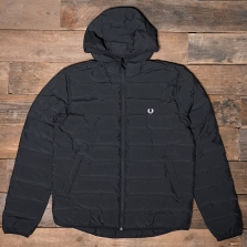 Fred Perry J2514 Brentham Insulated Hooded Jacket 102 Black