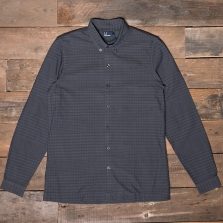 Fred Perry M2547 Distorted Gingham Shirt 102 Black