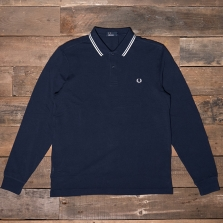 Fred Perry M3636 Ls Twin Tipped Shirt 226 Blue Granite