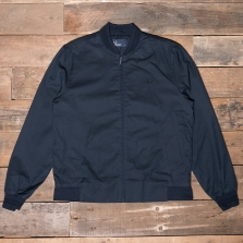 Fred Perry J2519 Woven Pique Bomber Jacket 226 Blue Granite